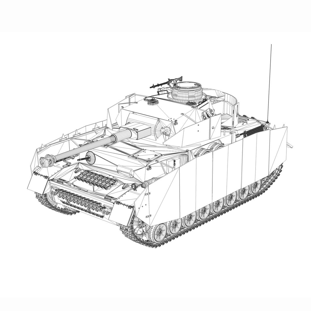 sd.kfz 161 pzkpfw iv - panzer 4 - ausf.h késő 3d modell 3ds fbx c4d lwo obj 190325