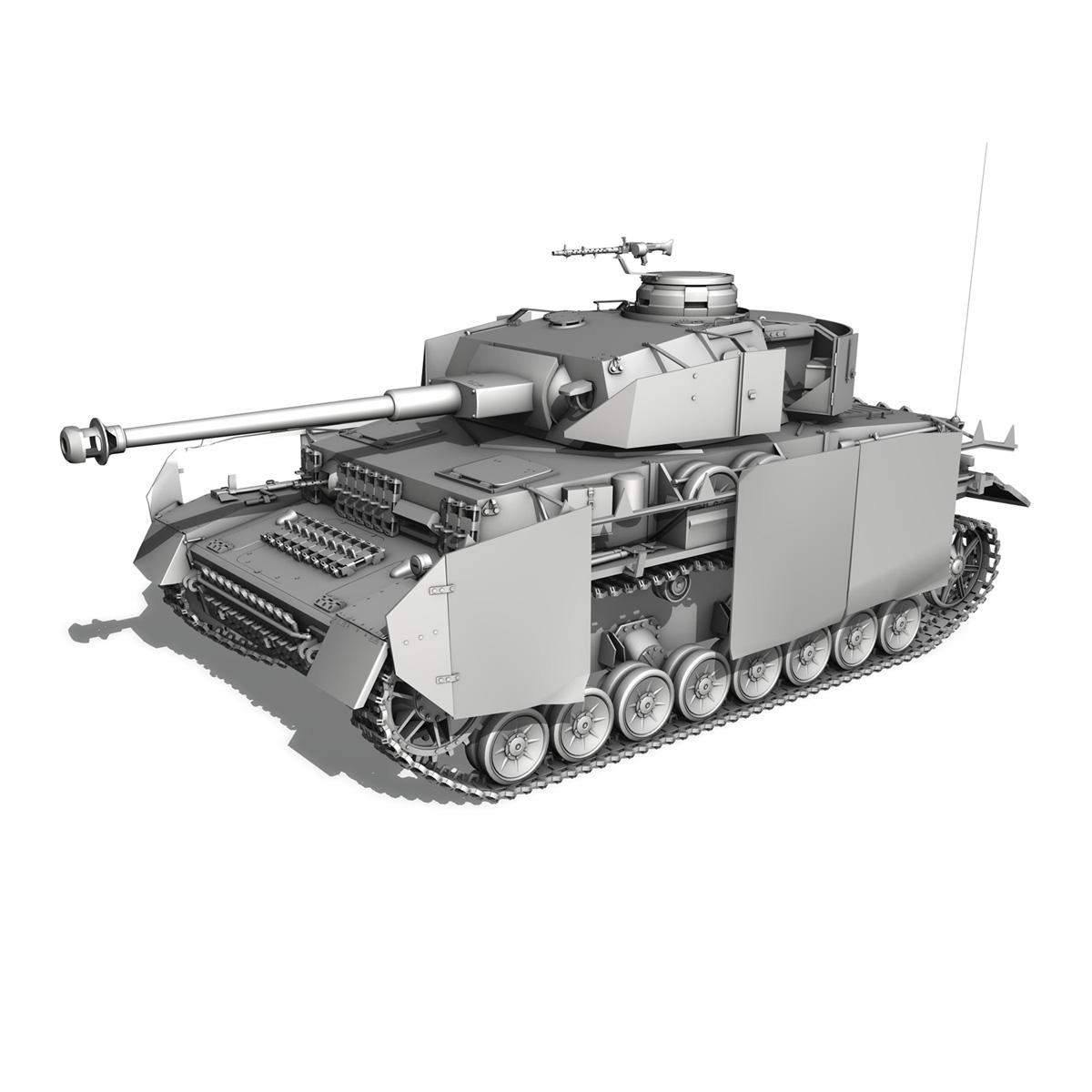 sd.kfz 161 pzkpfw iv panzer 4 ausf.h late 3d model 3ds fbx c4d lwo obj 190340