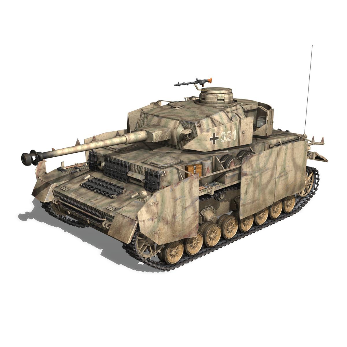 sd.kfz 161 pzkpfw iv panzer 4 ausf.h late 3d model 3ds fbx c4d lwo obj 190341