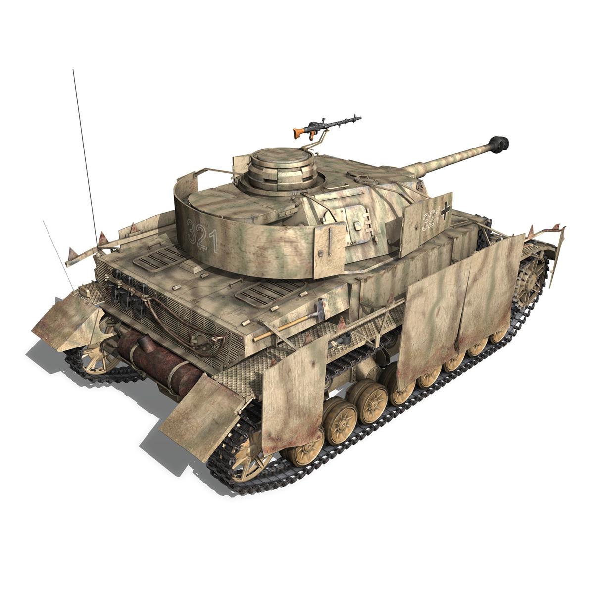 sd.kfz 161 pzkpfw iv panzer 4 ausf.h late 3d model 3ds fbx c4d lwo obj 190343