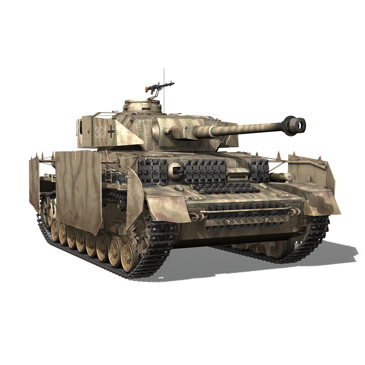 sd.kfz 161 pzkpfw iv panzer 4 ausf.h late 3d model 3ds fbx c4d lwo obj 190345