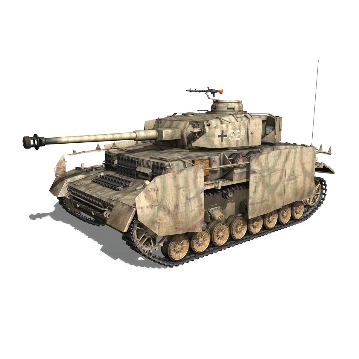 sd.kfz 161 pzkpfw iv panzer 4 ausf.h late 3d model 3ds fbx c4d lwo obj 190346