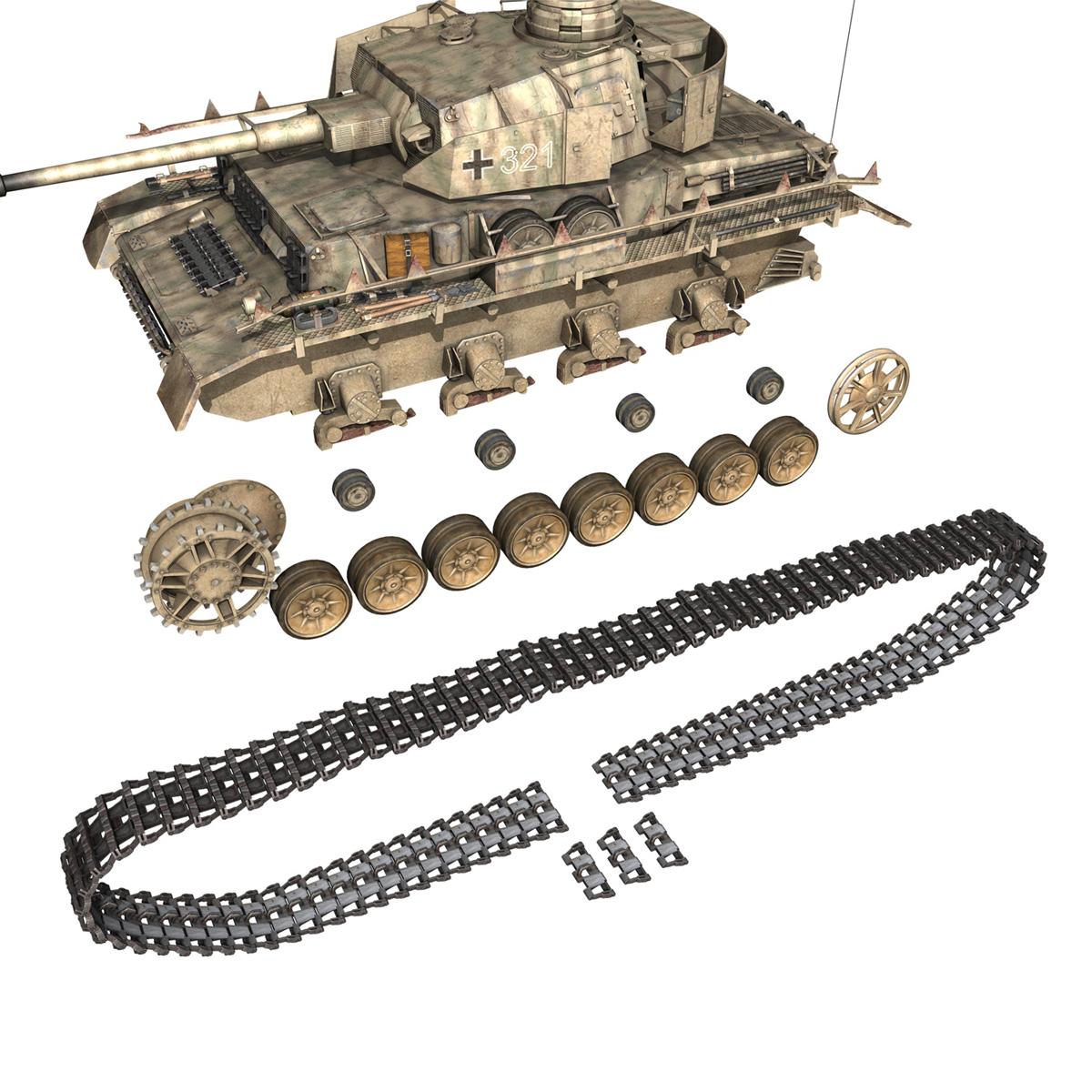 sd.kfz 161 pzkpfw iv panzer 4 ausf.h late 3d model 3ds fbx c4d lwo obj 190347