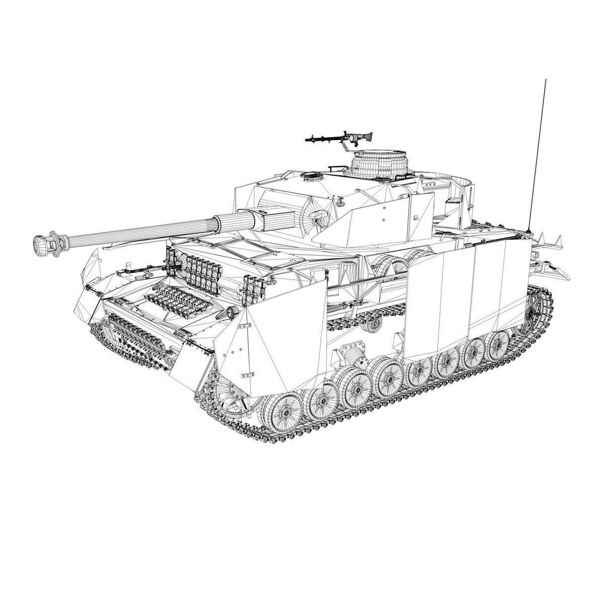 sd.kfz 161 pzkpfw iv panzer 4 ausf.h late 3d model 3ds fbx c4d lwo obj 190348