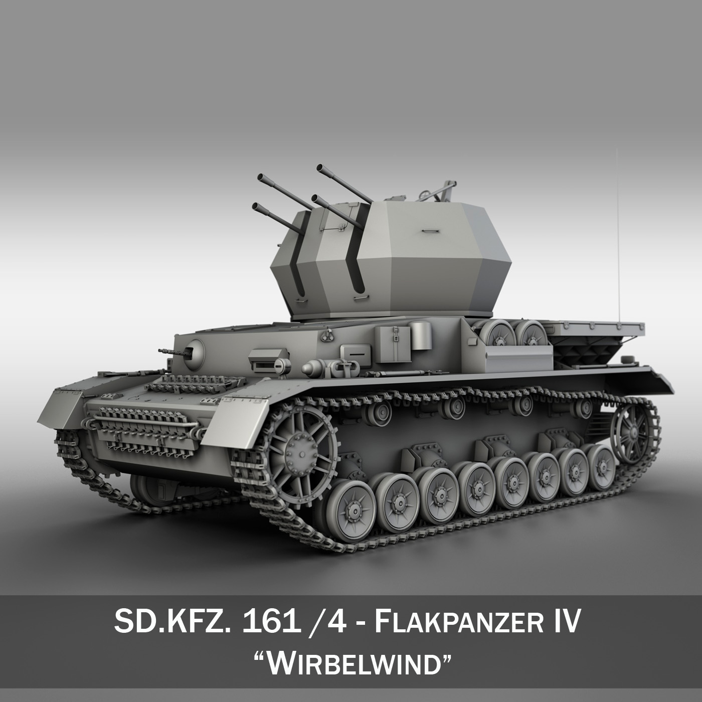 flakpanzer 4 - kabel 3d model 3ds fbx c4d obo 190384