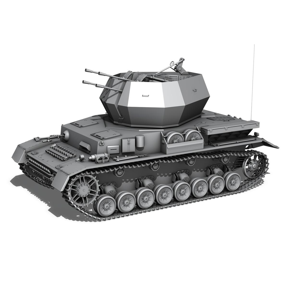 flakpanzer 4 - wirbelwind 3d model 3ds fbx c4d lwo obj 190385