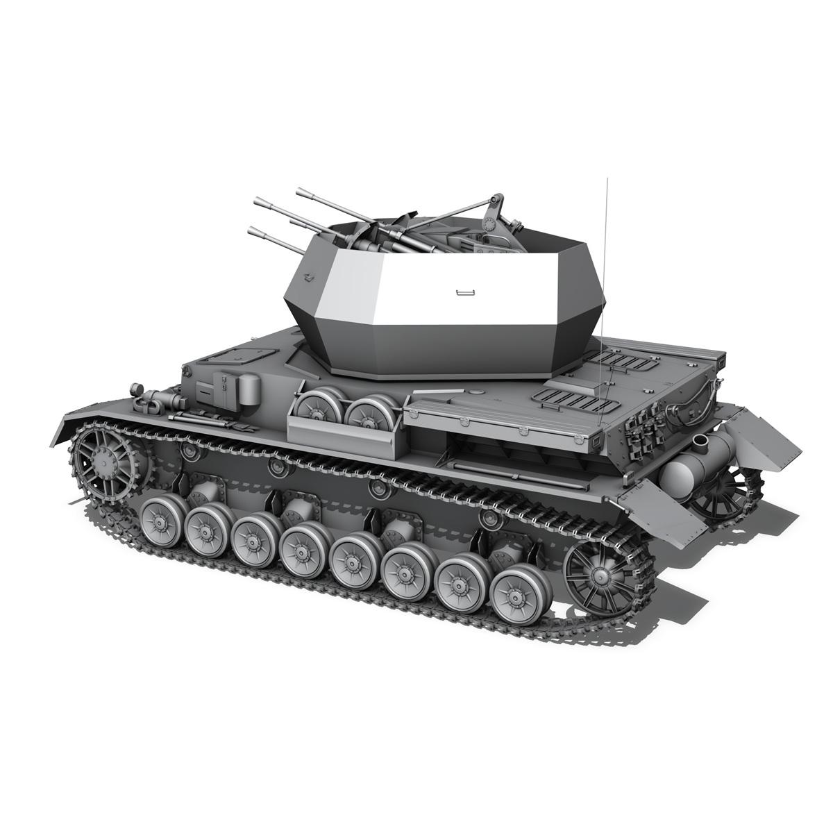 flakpanzer 4 - wirbelwind 3d model 3ds fbx c4d lwo obj 190386