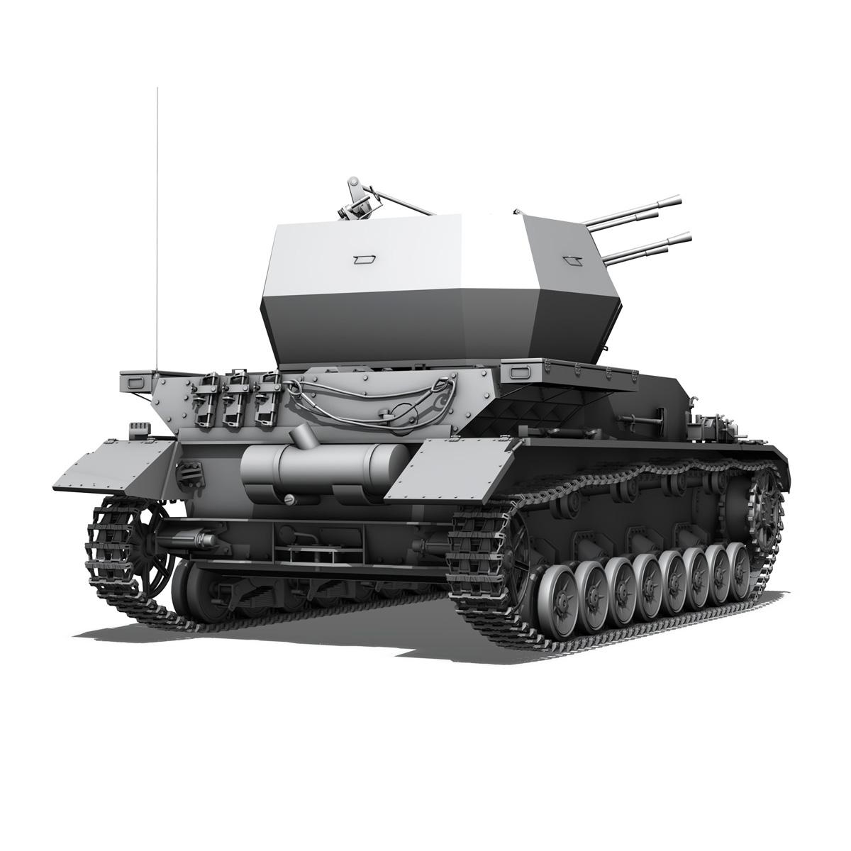 flakpanzer 4 - wirbelwind 3d model 3ds fbx c4d lwo obj 190387