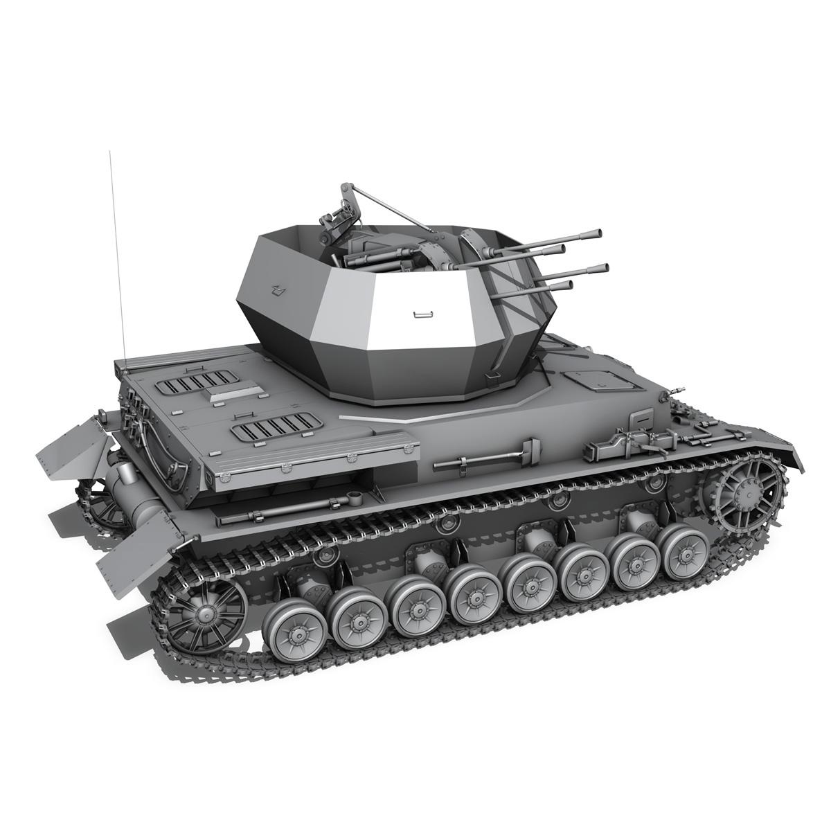flakpanzer 4 - wirbelwind 3d model 3ds fbx c4d lwo obj 190388