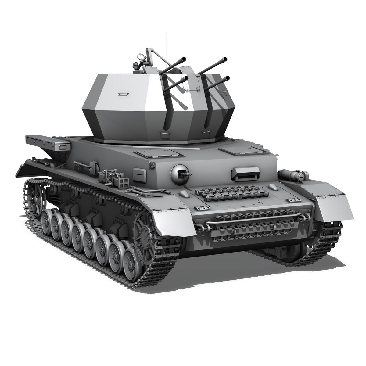 flakpanzer 4 - wirbelwind 3d model 3ds fbx c4d lwo obj 190389