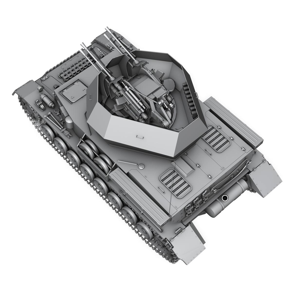 flakpanzer 4 - wirbelwind 3d model 3ds fbx c4d lwo obj 190390