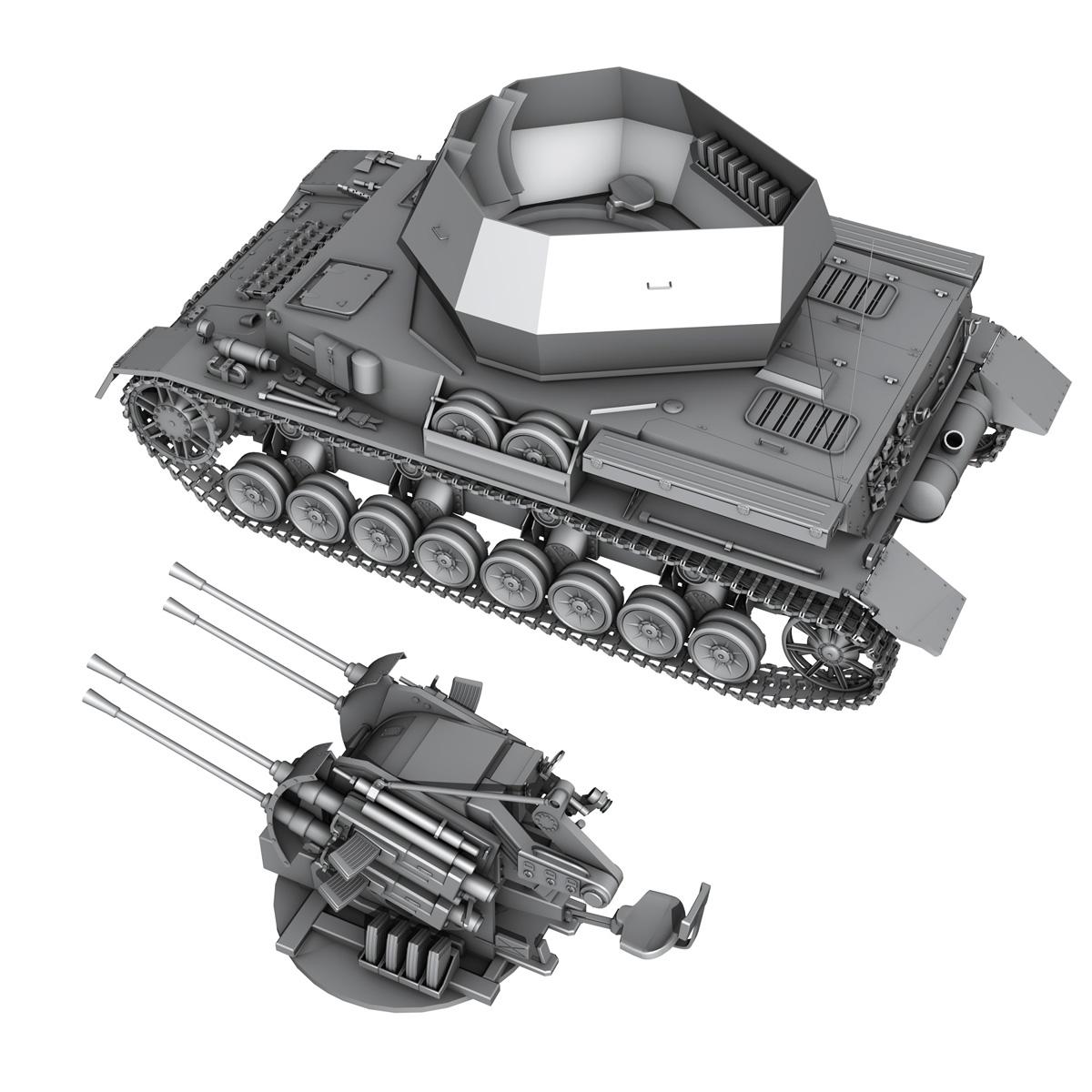 flakpanzer 4 - wirbelwind 3d model 3ds fbx c4d lwo obj 190391