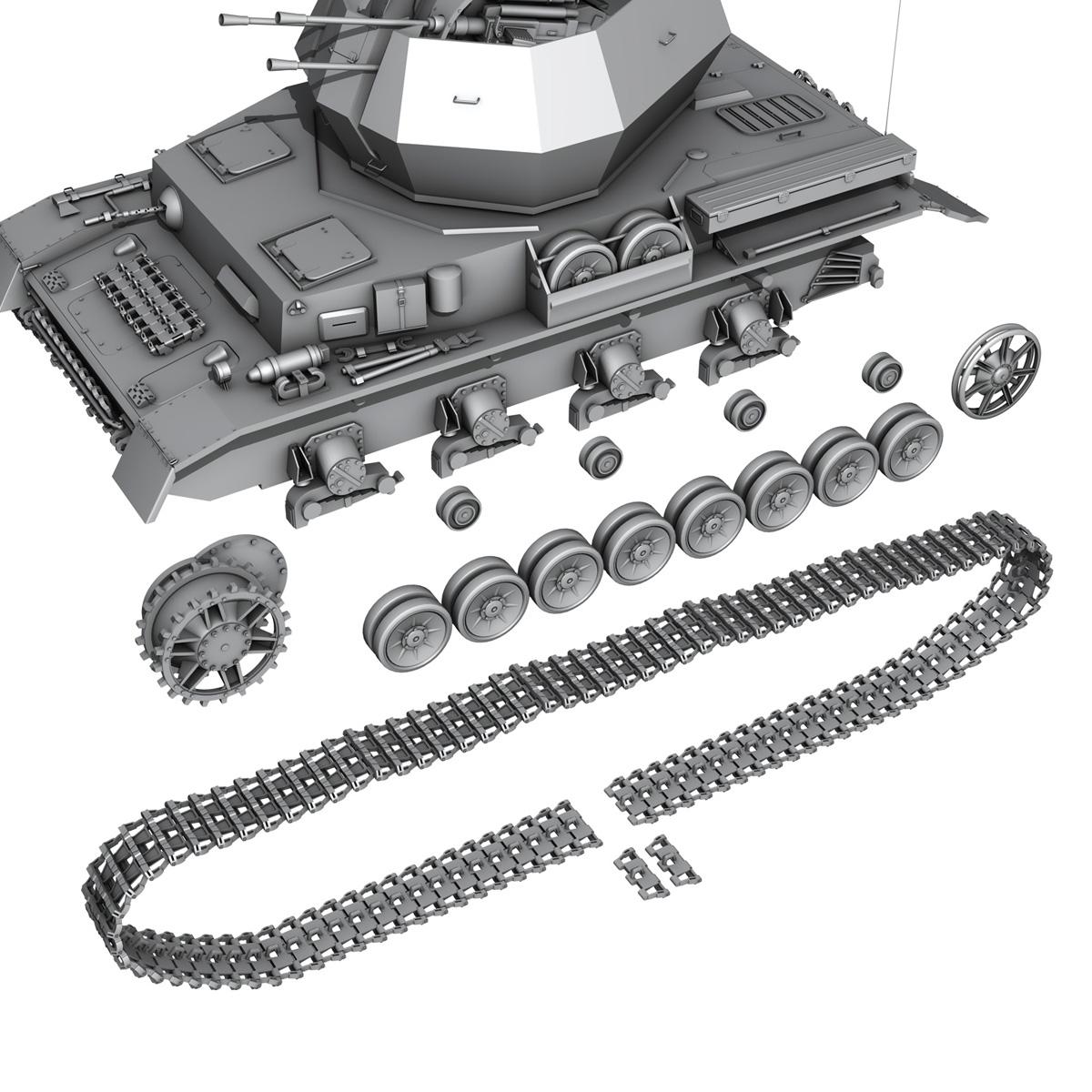 flakpanzer 4 - wirbelwind 3d model 3ds fbx c4d lwo obj 190392