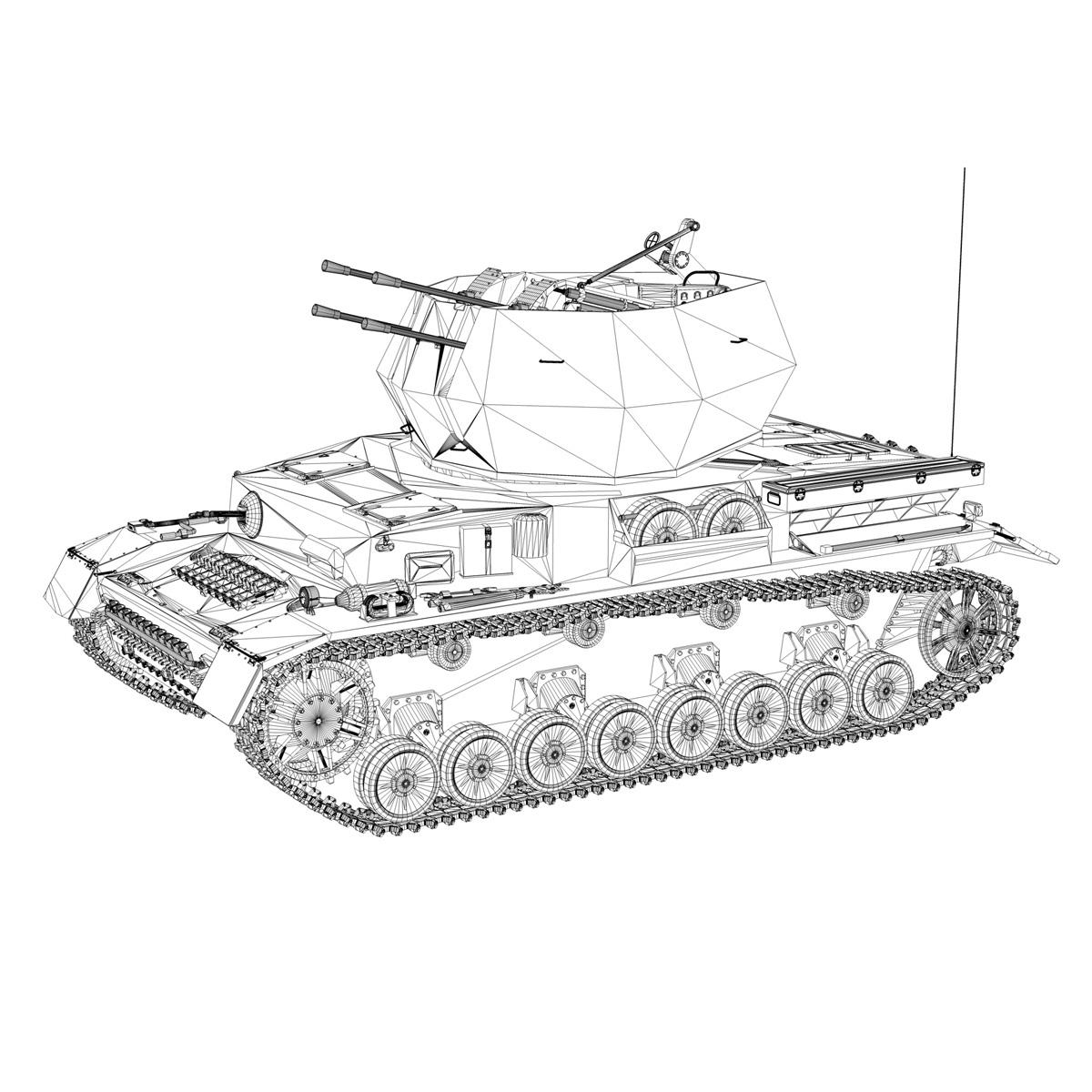 flakpanzer 4 - wirbelwind 3d model 3ds fbx c4d lwo obj 190393