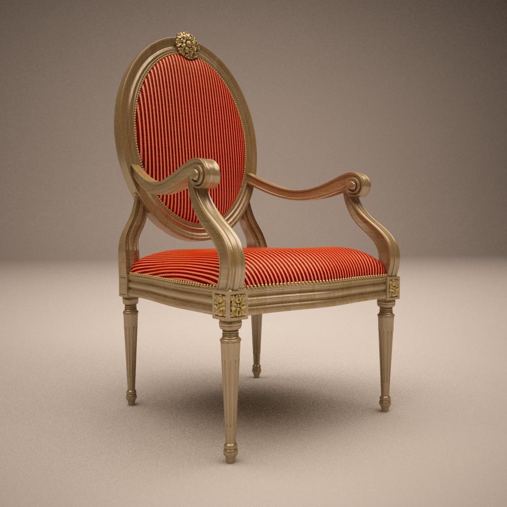 Angelo cappellini platrona amchair 3d model buy angelo for Model furniture