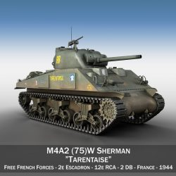 M4A2 Sherman - Tarentaise 3d model 0