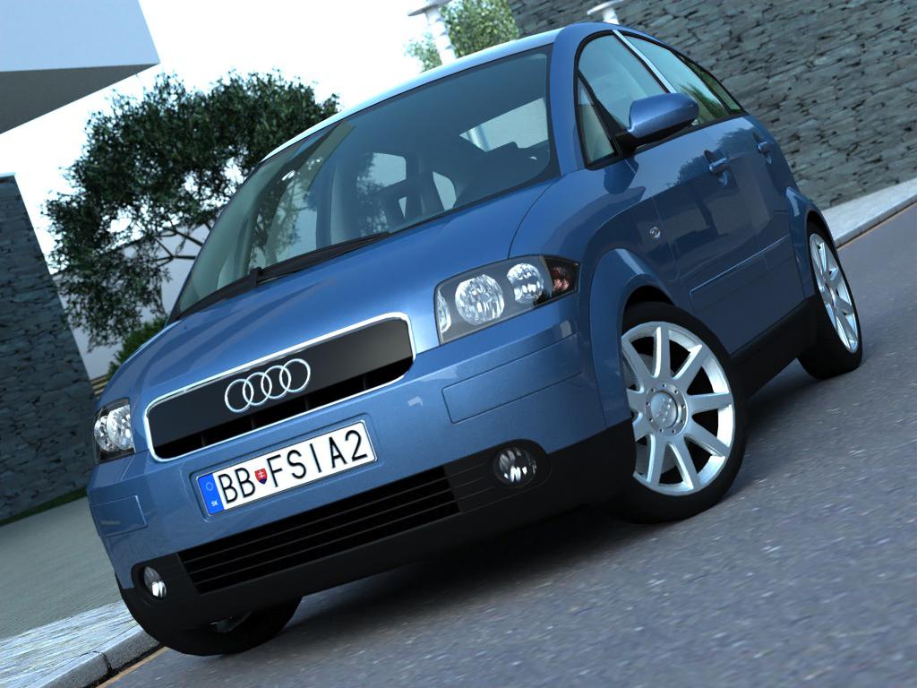 audi a2 (2003) 3d líkan 3ds max fbx c4d obj 190623