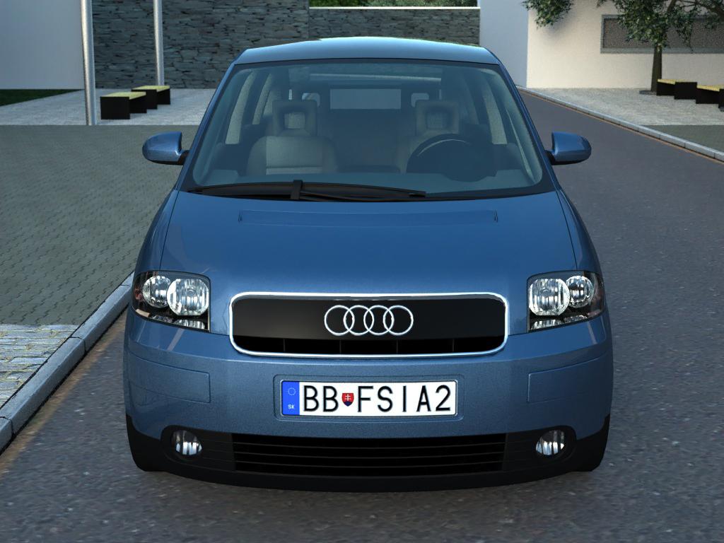 audi a2 (2003) 3d model 3ds max fbx c4d obj 190626
