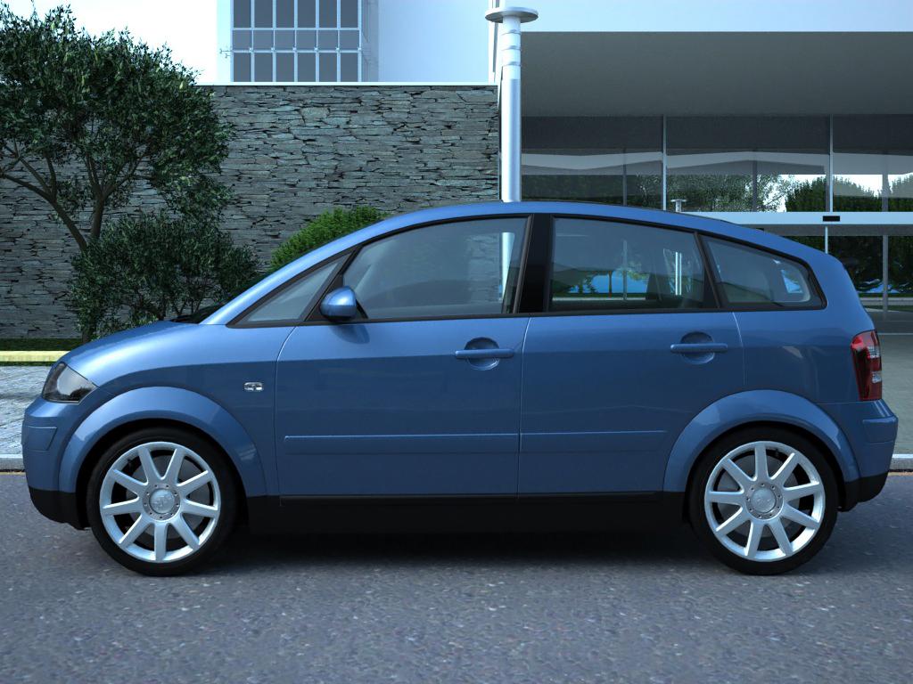 audi a2 (2003) 3d model 3ds max fbx c4d obj 190627