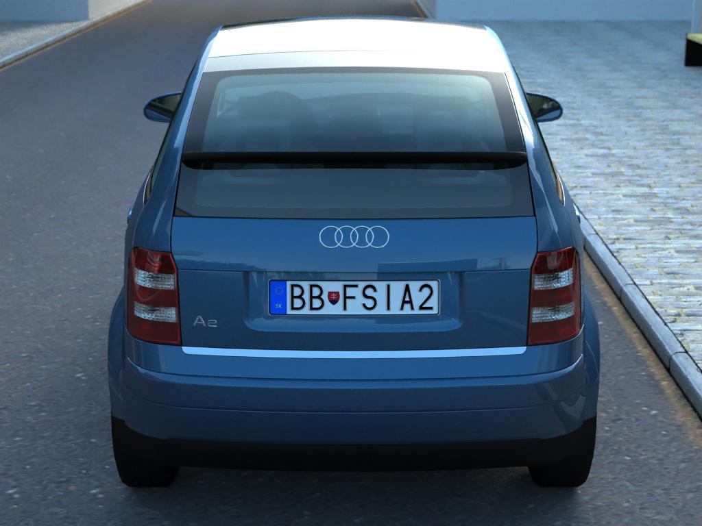 audi a2 (2003) 3d model 3ds max fbx c4d obj 190630