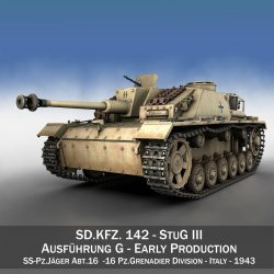 StuG III - Ausf.G - Early Production 3d model 0