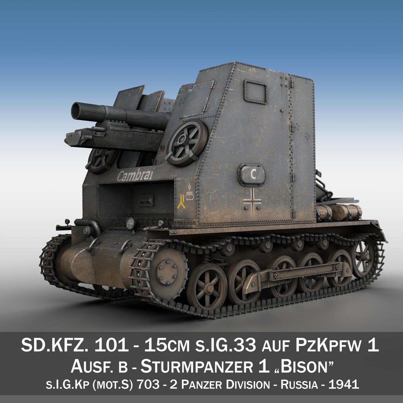sturmpanzer1 - bison - cambrai- 2.pzdiv Samhail 3d 3ds fbx c4d lwo obj 191337