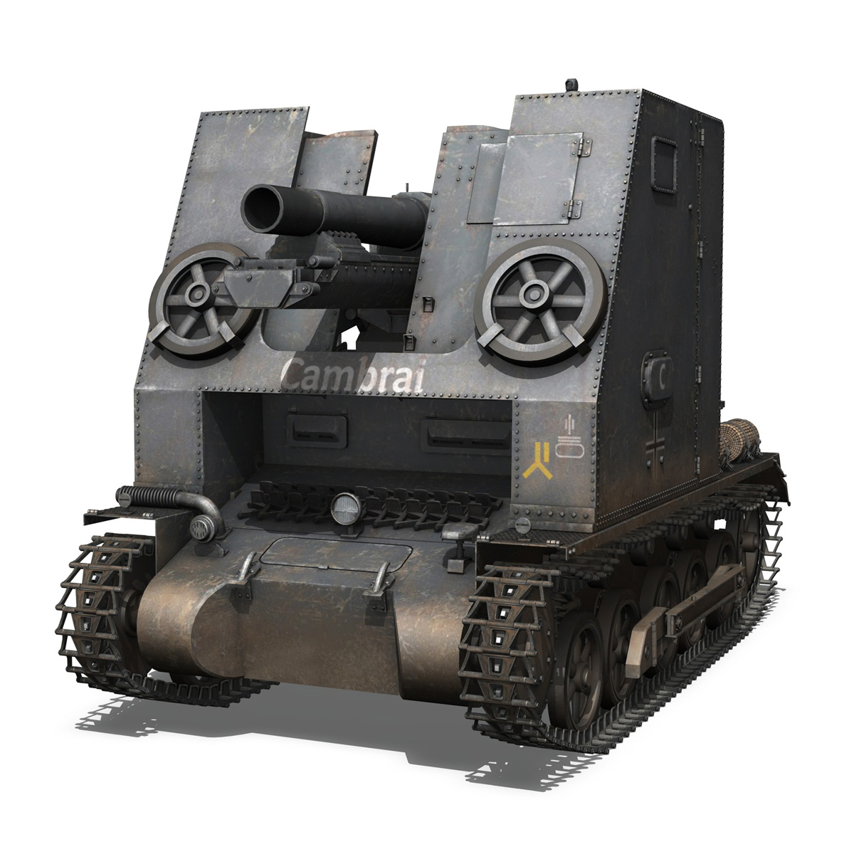 sturmpanzer1 – bison – cambrai- 2.pzdiv 3d model 3ds fbx c4d lwo obj 191338