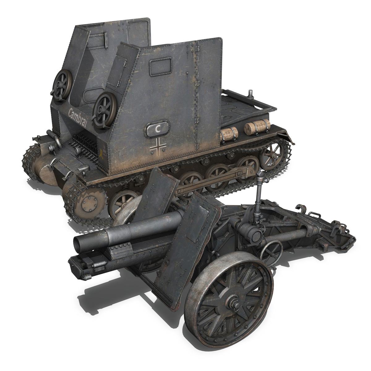 sturmpanzer1 – bison – cambrai- 2.pzdiv 3d model 3ds fbx c4d lwo obj 191343