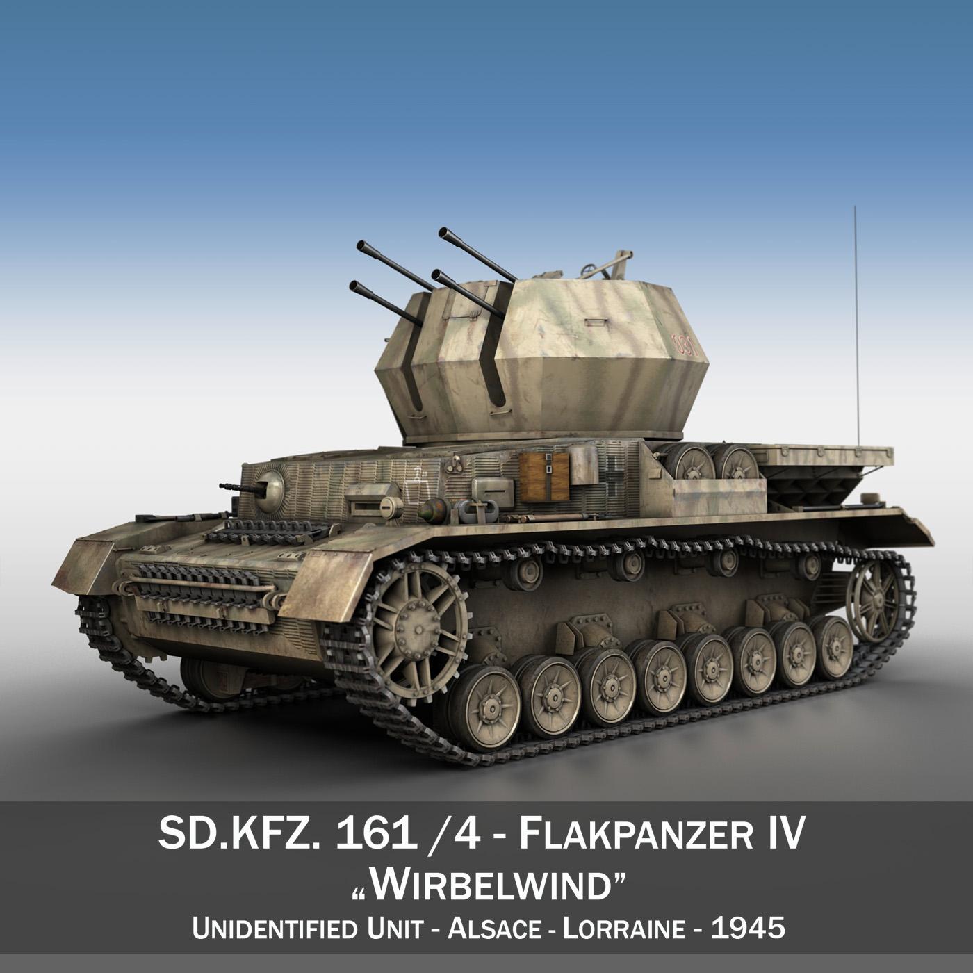 flakpanzer iv - model 3d wirbelwind 3ds fbx c4d lwo obj 191498