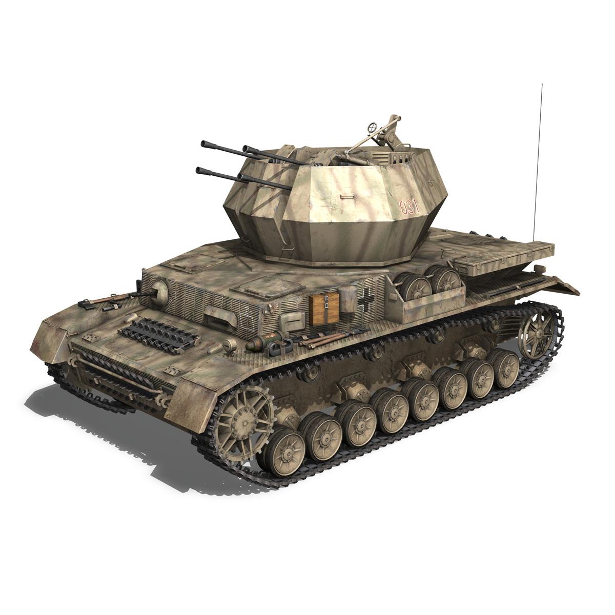 flakpanzer iv – wirbelwind 3d model 3ds fbx c4d lwo obj 191499