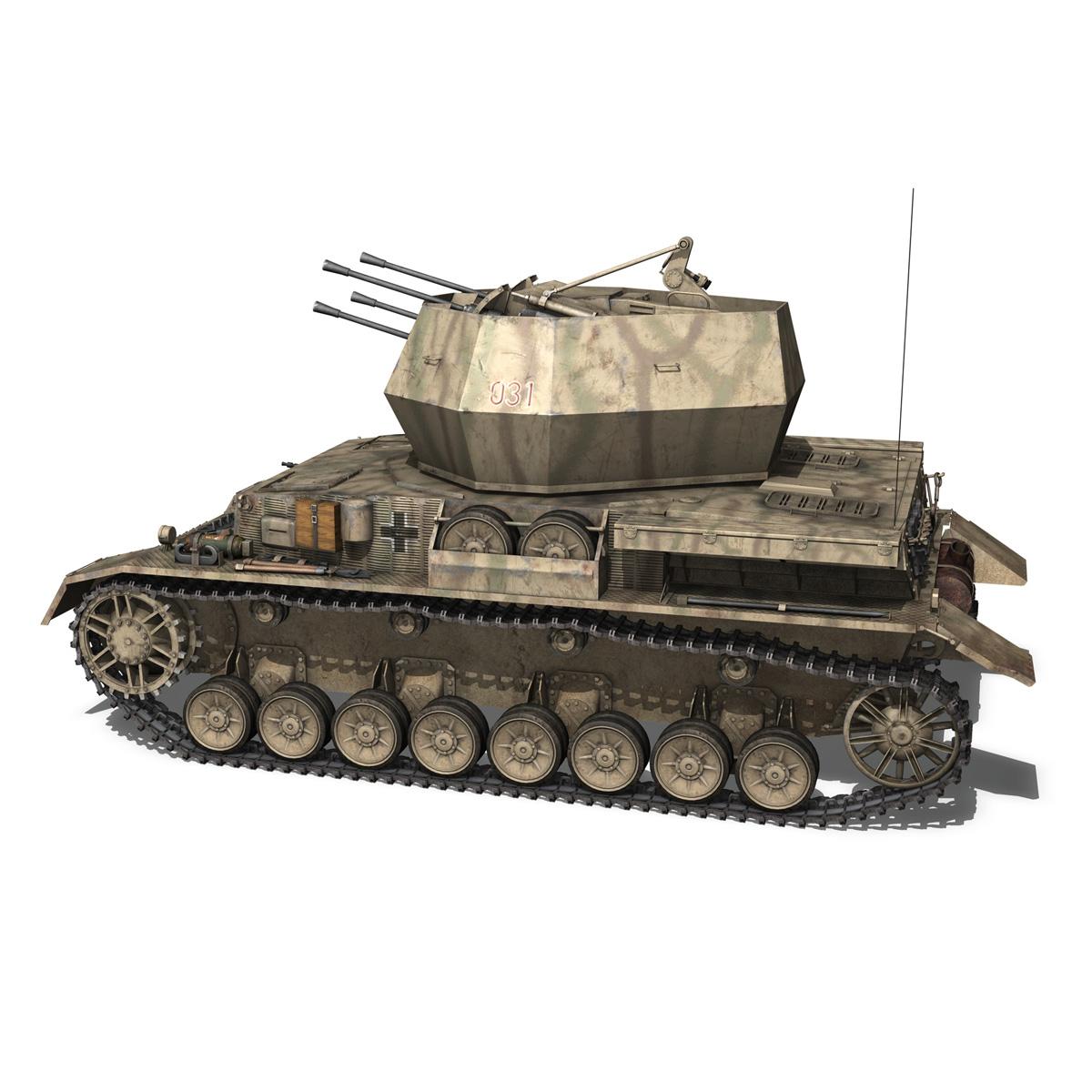 flakpanzer iv – wirbelwind 3d model 3ds fbx c4d lwo obj 191500