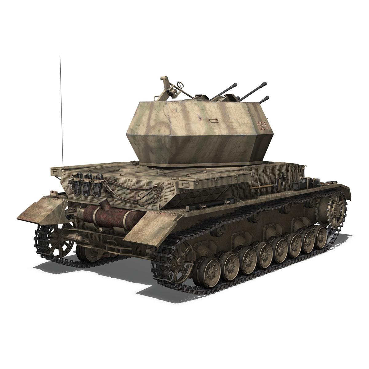 flakpanzer iv – wirbelwind 3d model 3ds fbx c4d lwo obj 191501