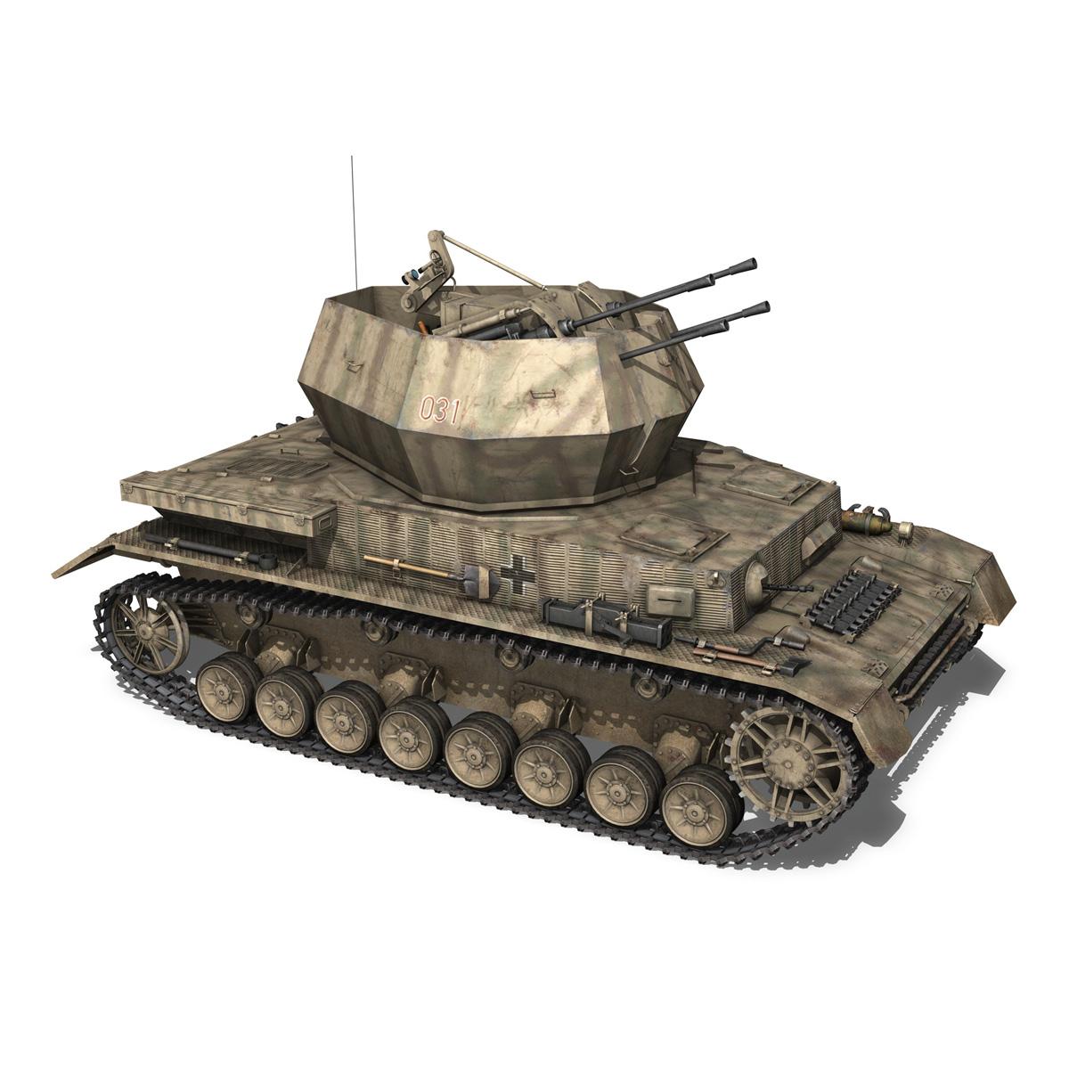 flakpanzer iv – wirbelwind 3d model 3ds fbx c4d lwo obj 191502