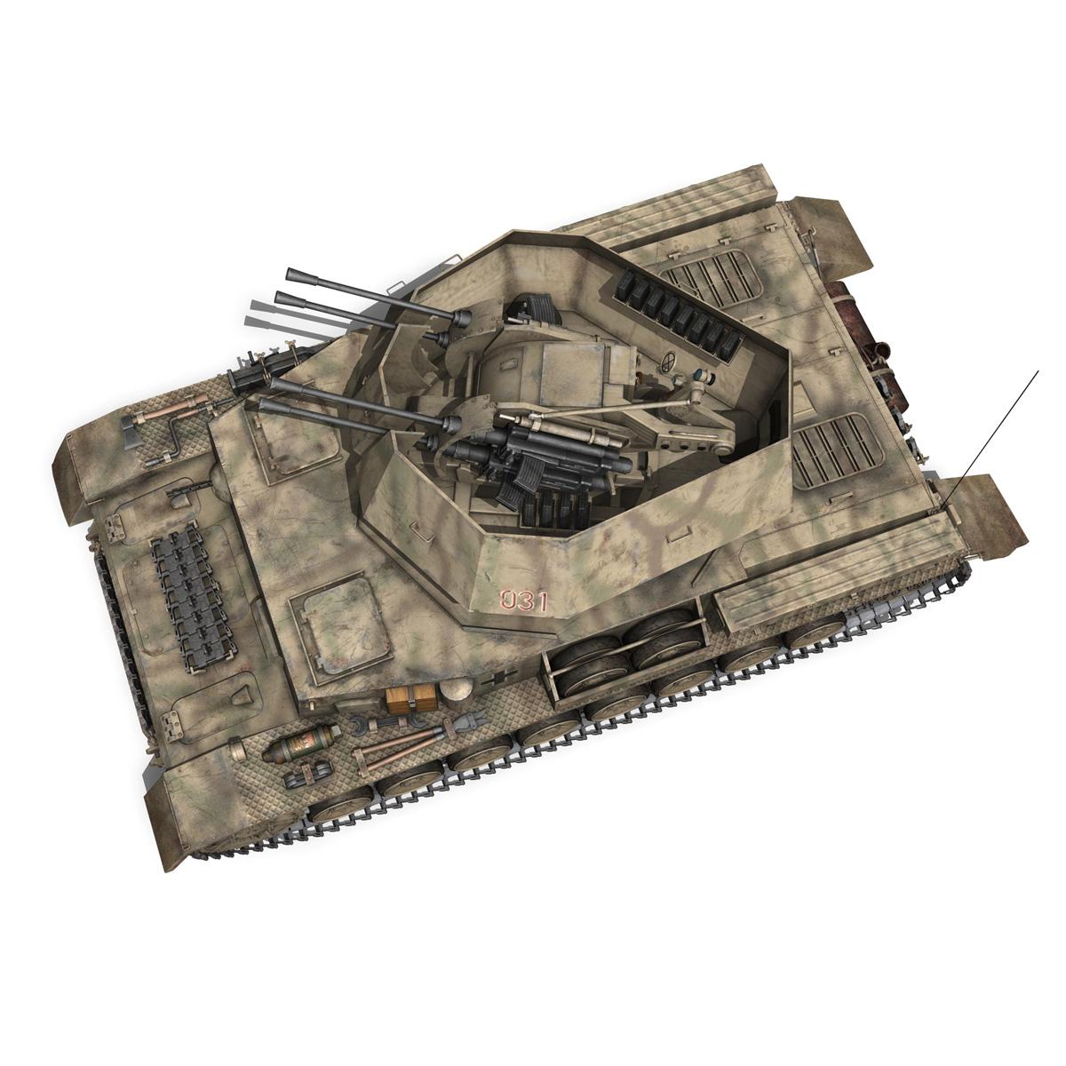 flakpanzer iv – wirbelwind 3d model 3ds fbx c4d lwo obj 191504