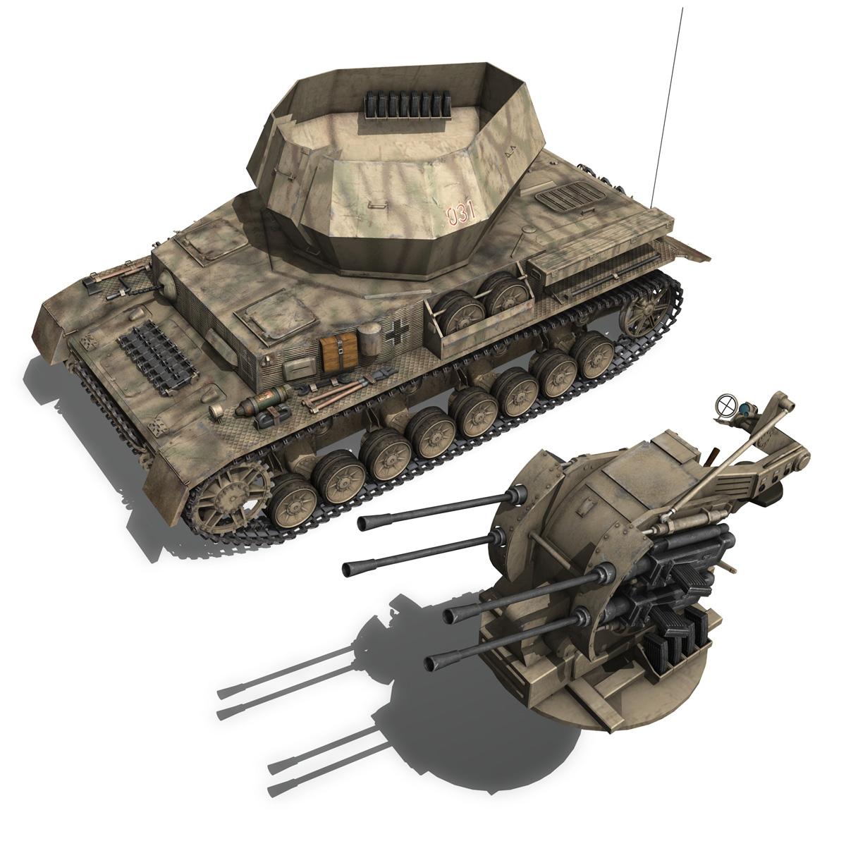 flakpanzer iv – wirbelwind 3d model 3ds fbx c4d lwo obj 191505