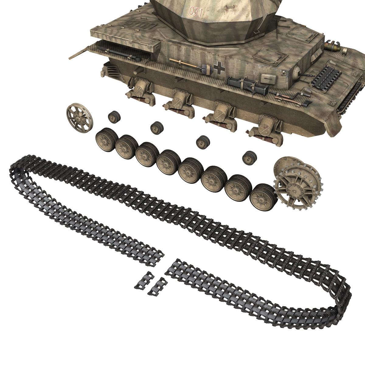 flakpanzer iv – wirbelwind 3d model 3ds fbx c4d lwo obj 191506