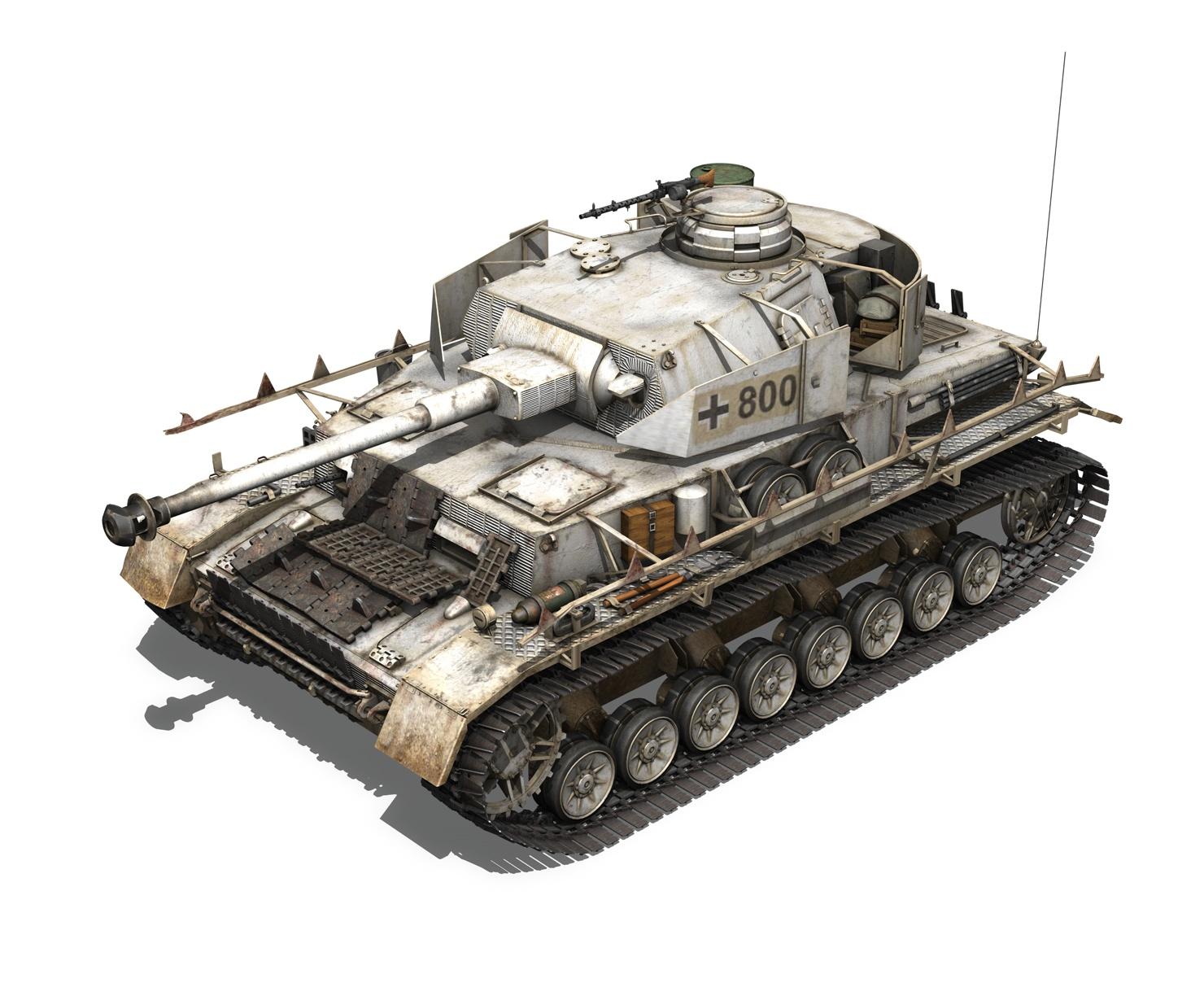 Sd kfz pzkpfw iv panzer ausf h winter d model