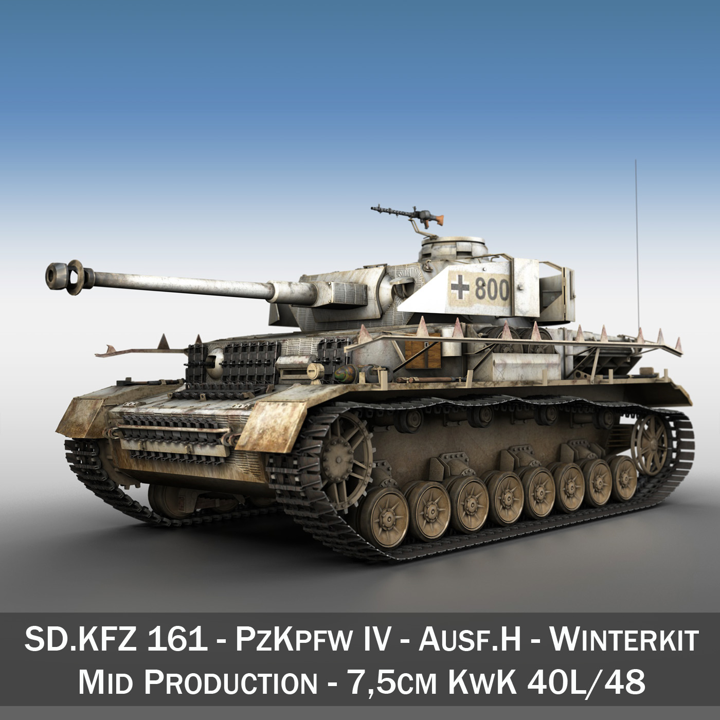 sd.kfz 161 – pzkpfw iv – panzer 4 – ausf.h winter 3d model 3ds fbx c4d lwo obj 191513