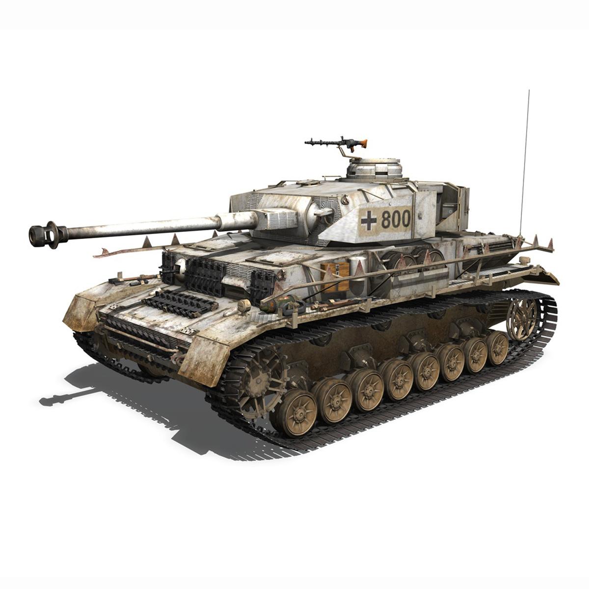sd.kfz 161 – pzkpfw iv – panzer 4 – ausf.h winter 3d model 3ds fbx c4d lwo obj 191514