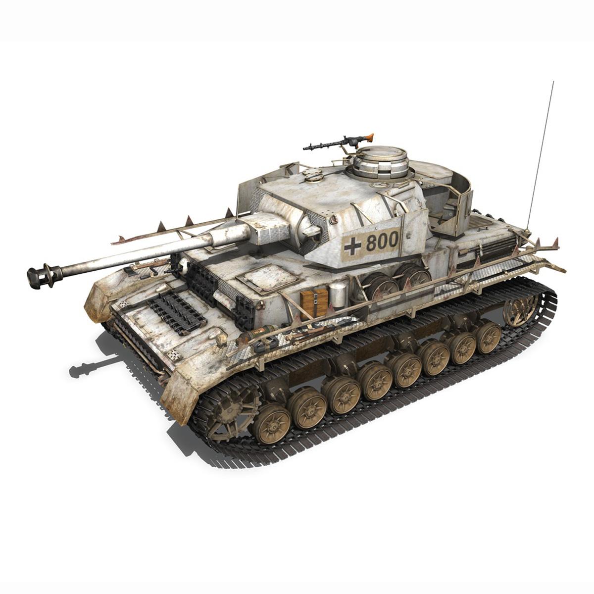 sd.kfz 161 – pzkpfw iv – panzer 4 – ausf.h winter 3d model 3ds fbx c4d lwo obj 191515