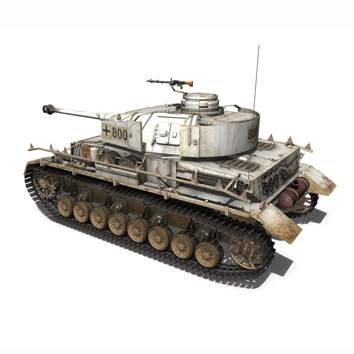 sd.kfz 161 – pzkpfw iv – panzer 4 – ausf.h winter 3d model 3ds fbx c4d lwo obj 191516