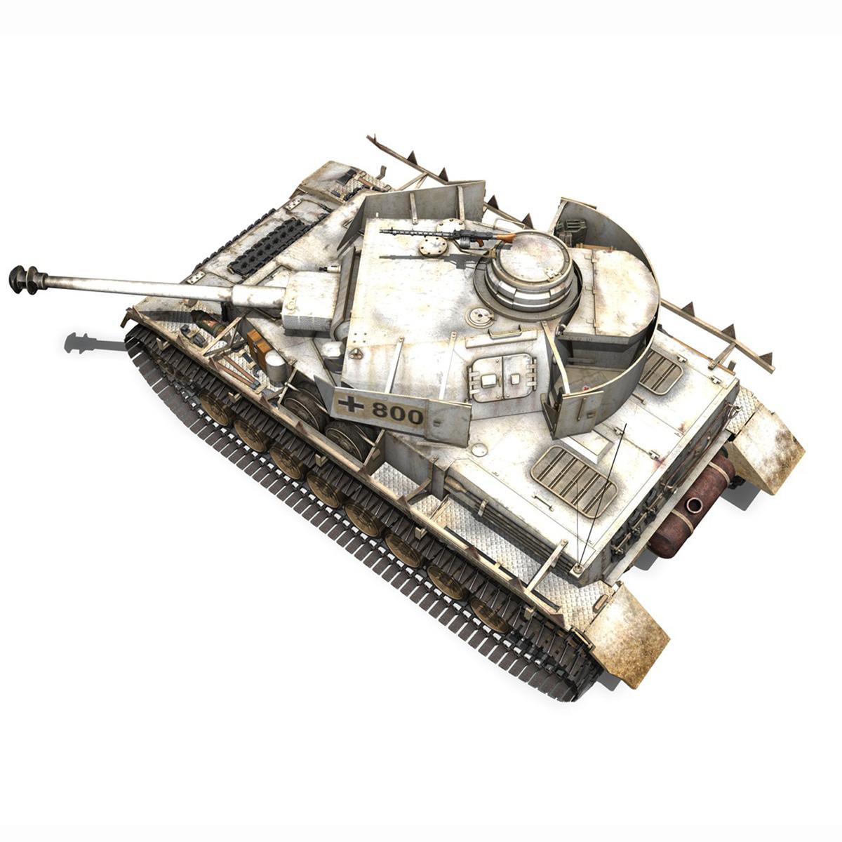 sd.kfz 161 – pzkpfw iv – panzer 4 – ausf.h winter 3d model 3ds fbx c4d lwo obj 191517