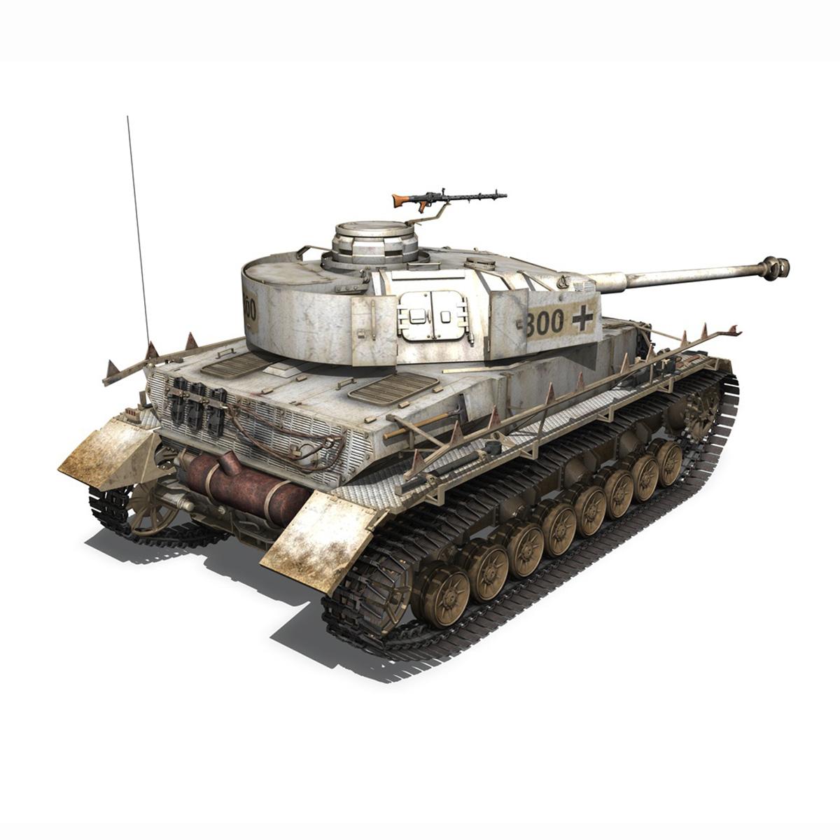 sd.kfz 161 – pzkpfw iv – panzer 4 – ausf.h winter 3d model 3ds fbx c4d lwo obj 191518