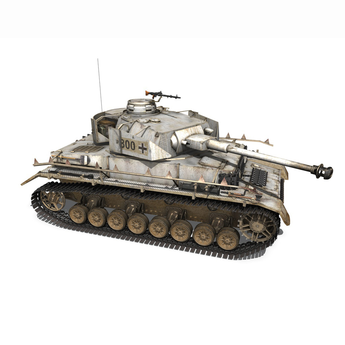 sd.kfz 161 – pzkpfw iv – panzer 4 – ausf.h winter 3d model 3ds fbx c4d lwo obj 191519