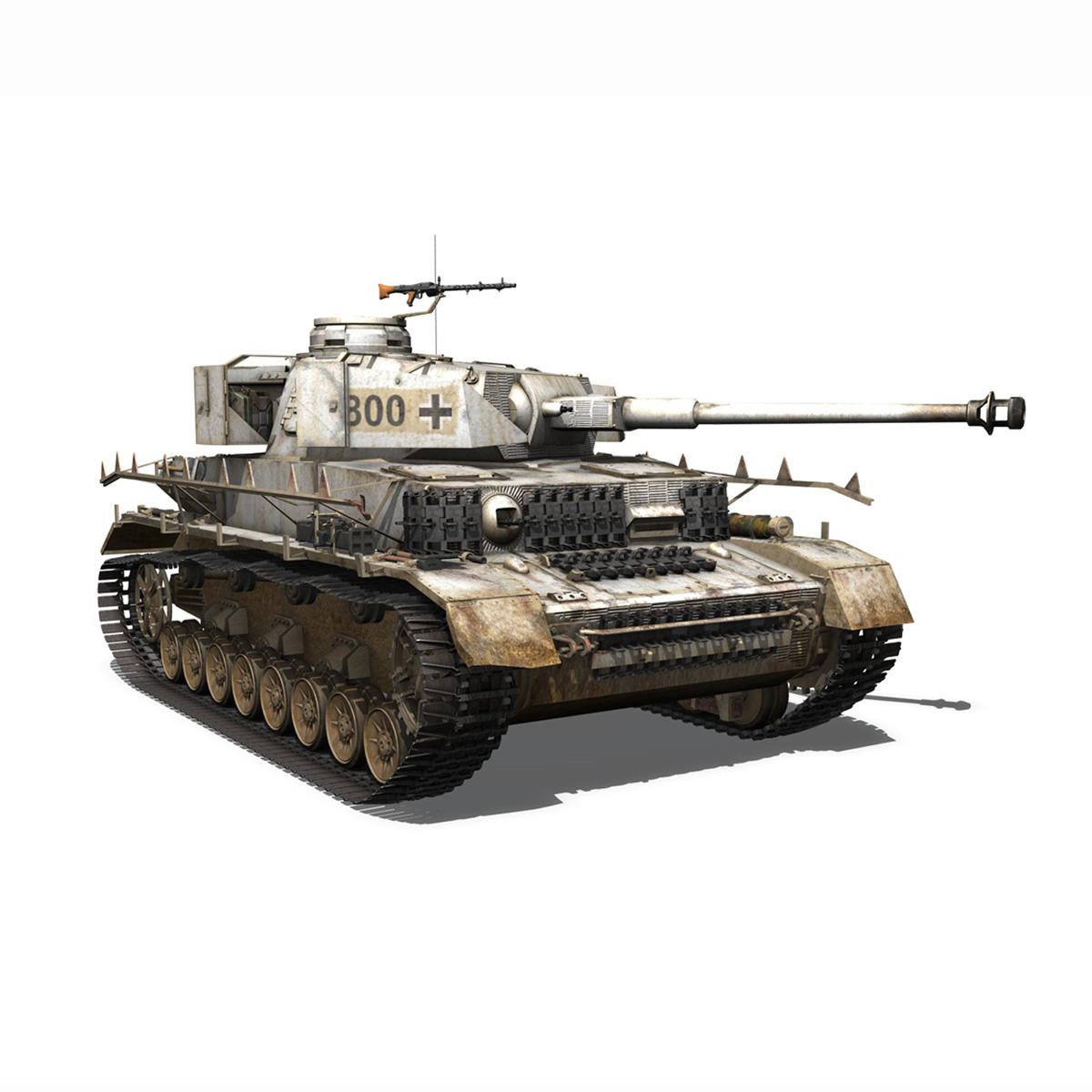 sd.kfz 161 – pzkpfw iv – panzer 4 – ausf.h winter 3d model 3ds fbx c4d lwo obj 191520
