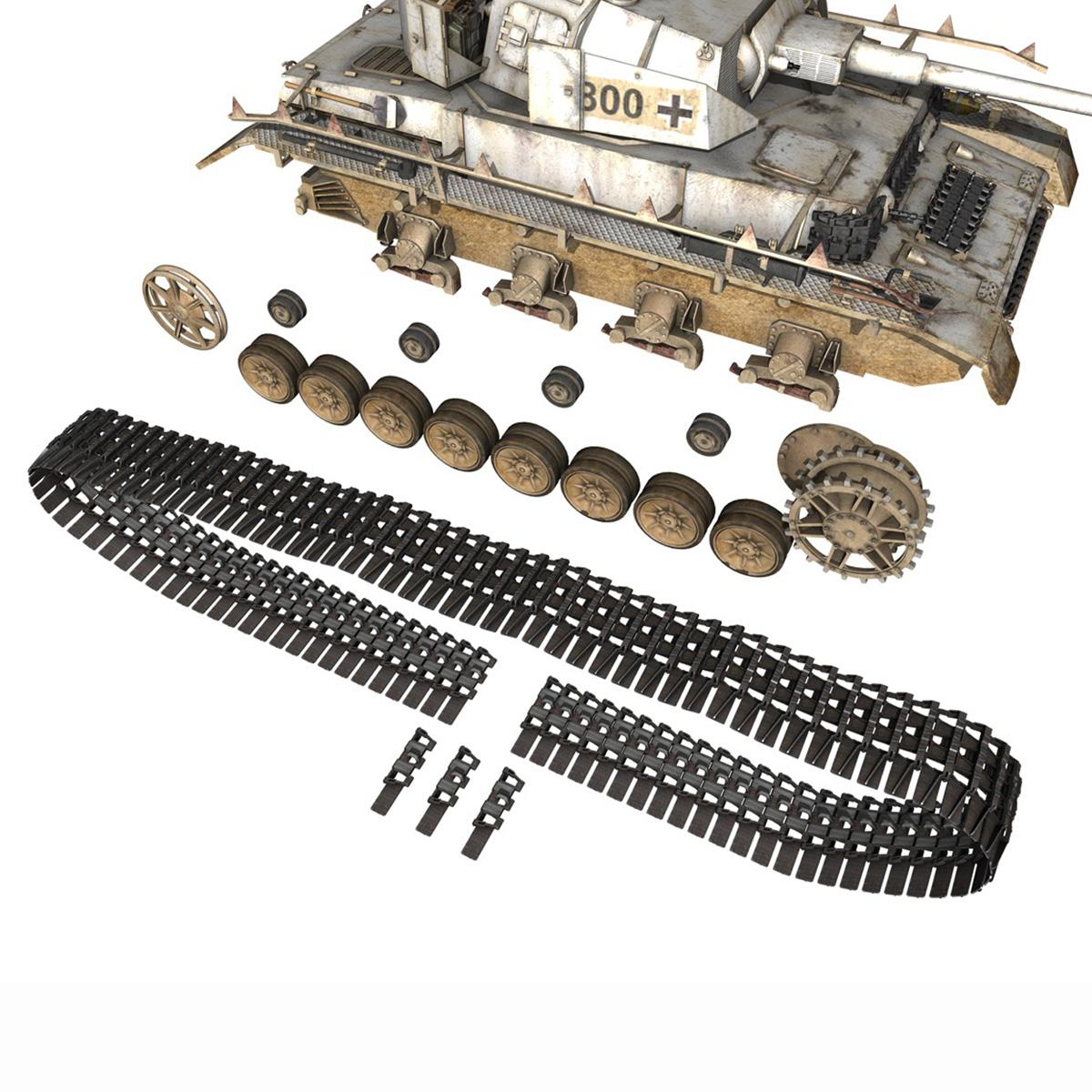 sd.kfz 161 – pzkpfw iv – panzer 4 – ausf.h winter 3d model 3ds fbx c4d lwo obj 191521