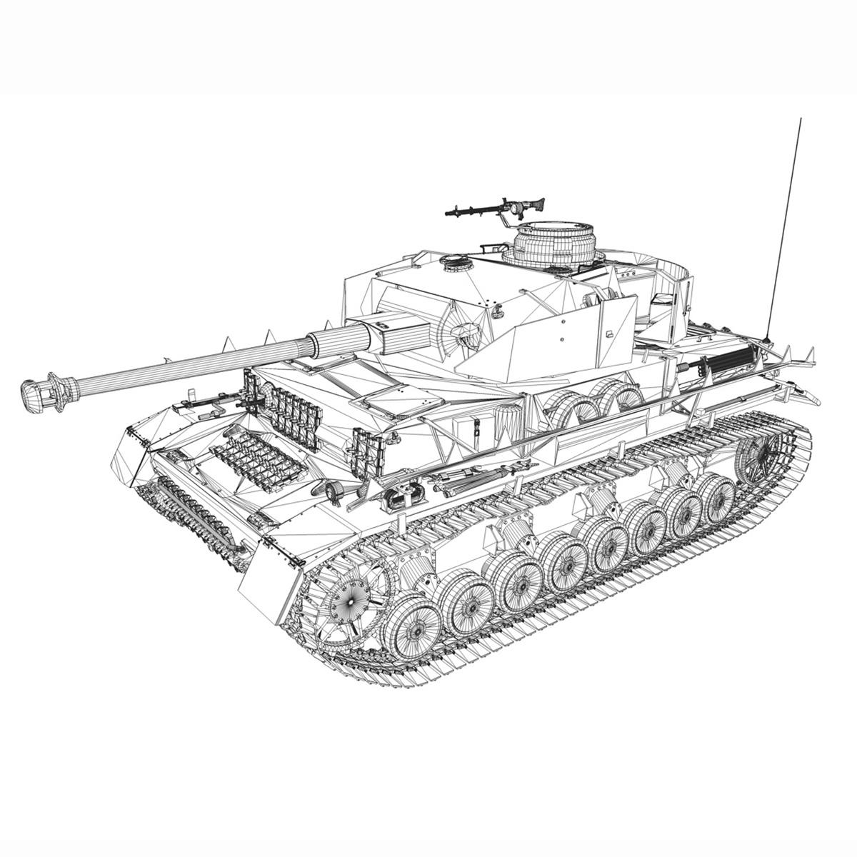 sd.kfz 161 – pzkpfw iv – panzer 4 – ausf.h winter 3d model 3ds fbx c4d lwo obj 191522