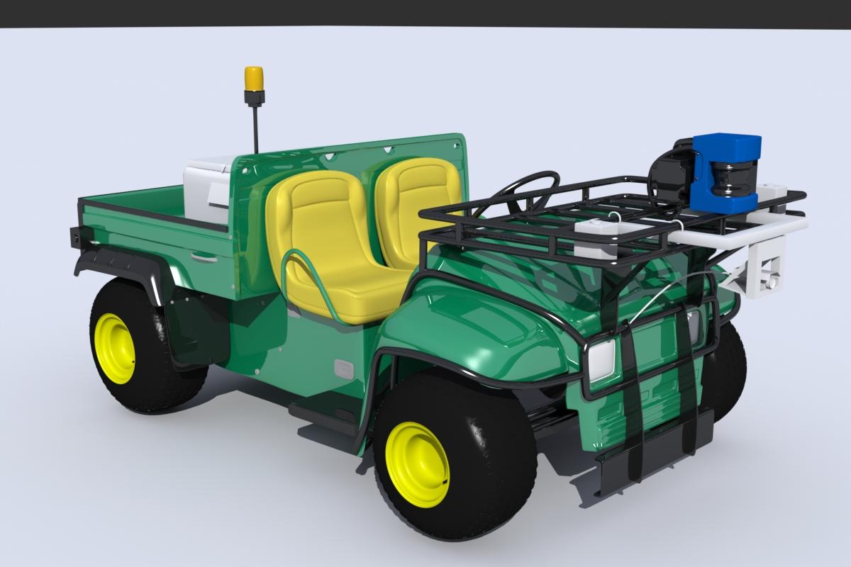 John Deere Gator Utility Vehicle 3d model blend   obj 191582