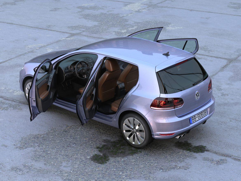 volkswagen golf 5d (2010) 3d model 3ds max fbx c4d obj 191602
