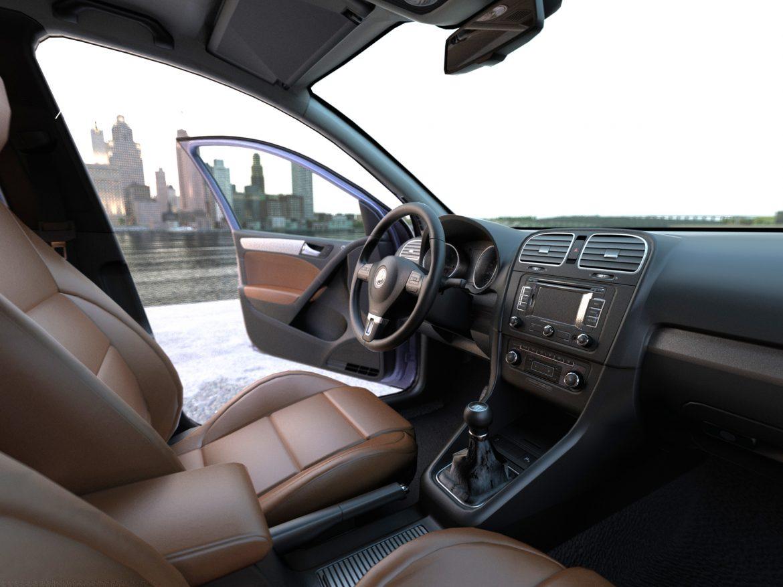 volkswagen golf 5d (2010) 3d model 3ds max fbx c4d obj 191605